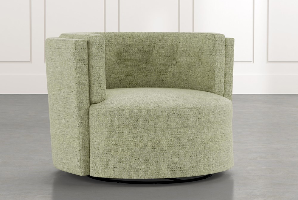 Aidan II Green Swivel Accent Chair
