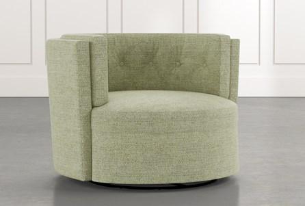 Aidan II Green Swivel Accent Chair