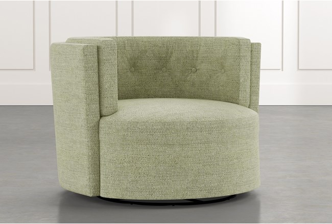 Aidan II Green Swivel Accent Chair - 360