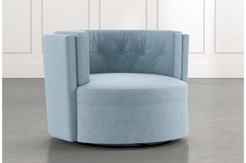 Aidan II Light Blue Swivel Accent Chair