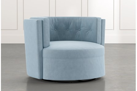 Aidan II Light Blue Swivel Accent Chair