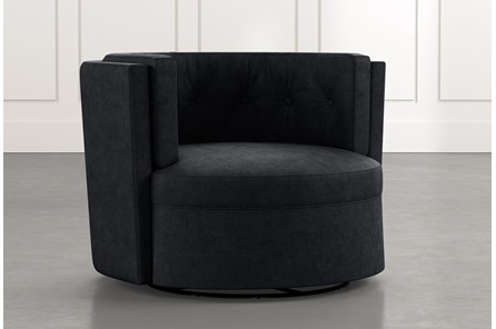 Aidan II Black Swivel Accent Chair