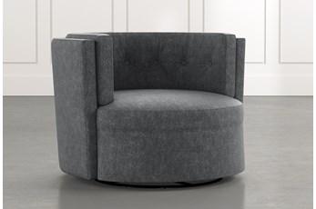 Aidan II Dark Grey Swivel Accent Chair