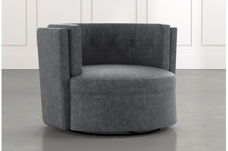 Aidan II Dark Grey Swivel Accent Chair