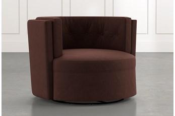 Aidan II Brown Swivel Accent Chair