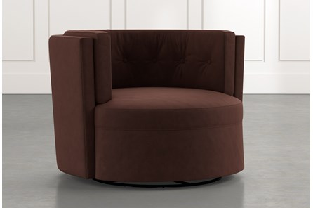 Aidan II Brown Swivel Accent Chair