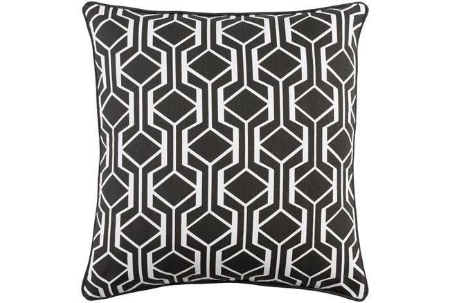 Promo Pillow-Teague Black/White 18X18 - 360