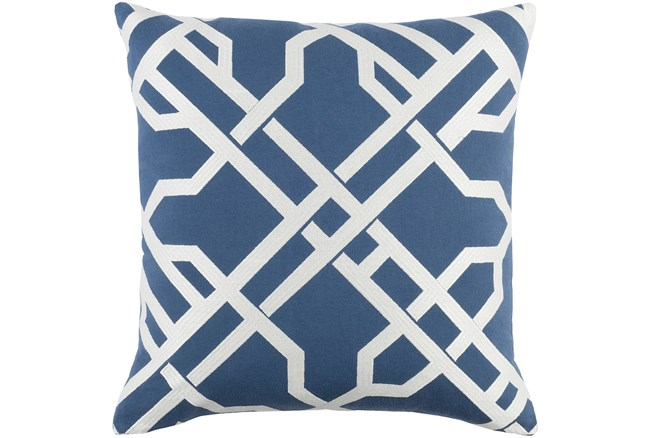 Promo Pillow-Keegan Denim 18X18 - 360
