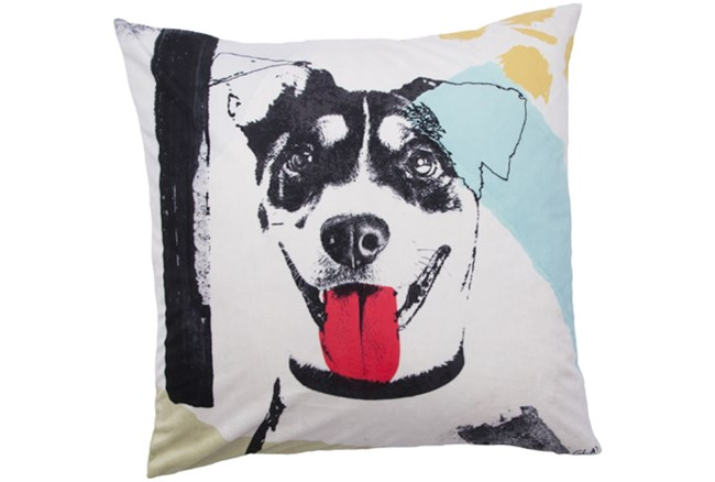 Accent Pillow-Red Tongue Pup 20X20 - 360