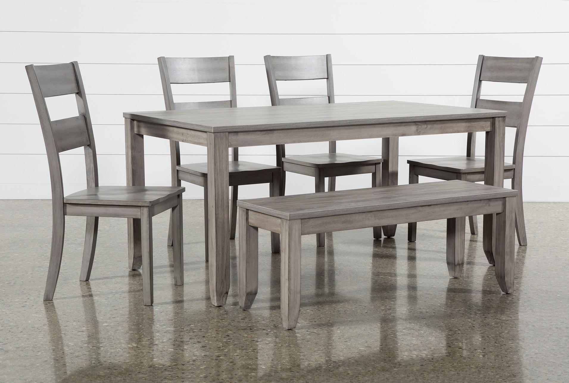 Matias Grey 6 Piece Dining Set Living Spaces