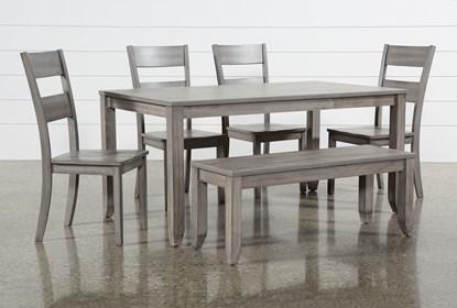 Matias Grey 6 Piece Dining Set Living Spaces