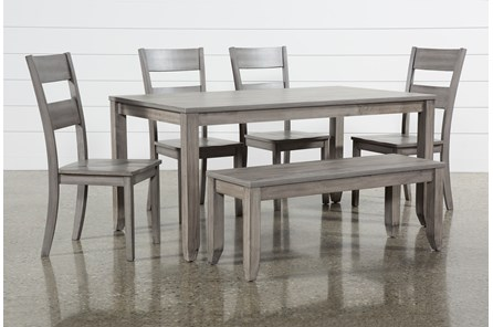 Matias Grey 6 Piece Dining Set - Main