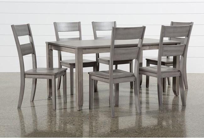 Matias Grey 7 Piece Dining Set - 360
