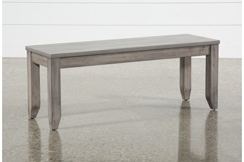 Matias Grey Dining Bench