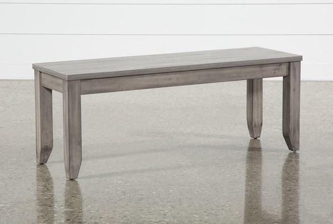Matias Grey Dining Bench - 360