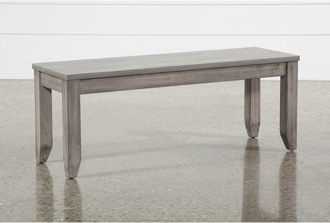 Matias Grey Dining Bench - 360
