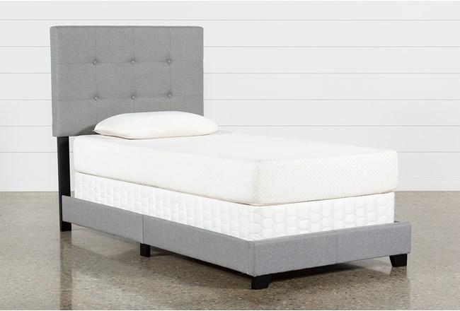 Amelia Twin Upholstered Panel Bed - 360