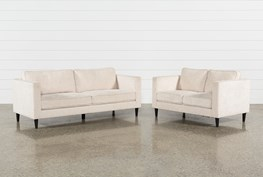 Cosmos Natural 2 Piece Living Room Set
