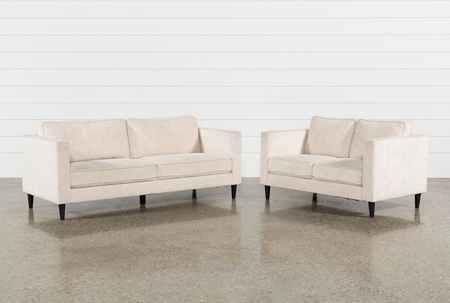 Cosmos Natural 2 Piece Living Room Set - 360