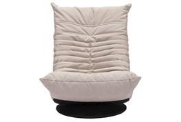 Low Swivel Chair Beige