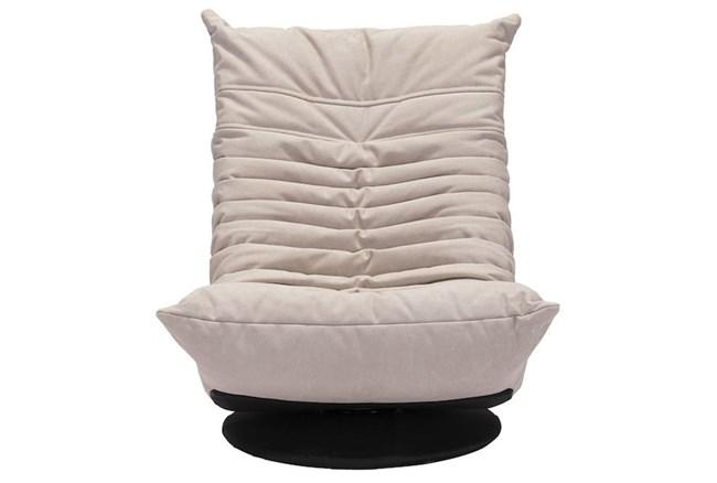 Low Swivel Chair Beige - 360