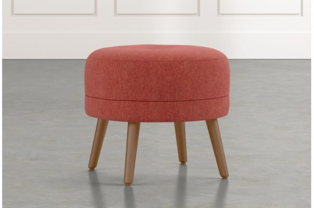 Devon II Red Accent Ottoman