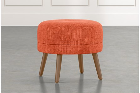 Devon II Orange Accent Ottoman