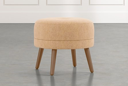 Devon II Yellow Accent Ottoman