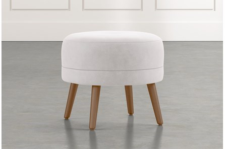 Devon II Light Grey Accent Ottoman