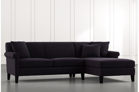 Devon II Black 2 Piece Sectional