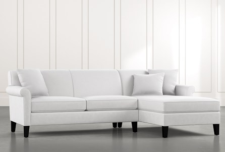 Devon II White 2 Piece Sectional