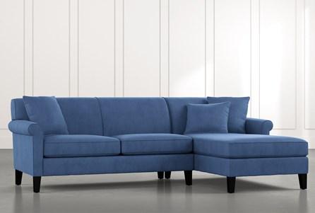 Devon II Blue 2 Piece Sectional