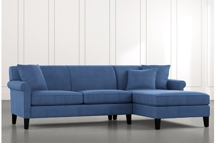 Devon II Blue 2 Piece Sectional