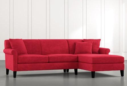 Devon II Red 2 Piece Sectional