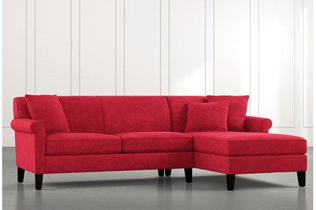 Devon II Red 2 Piece Sectional