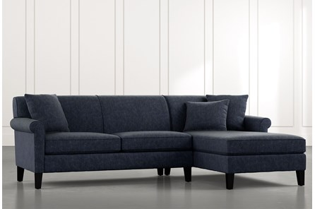 Devon II Navy Blue 2 Piece Sectional
