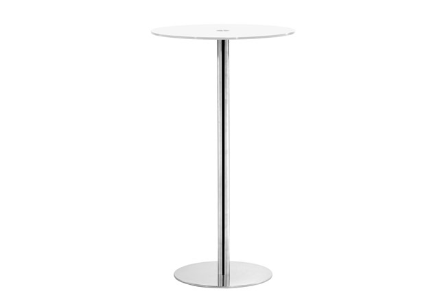 Cyclone Bar Table White Glass - 360