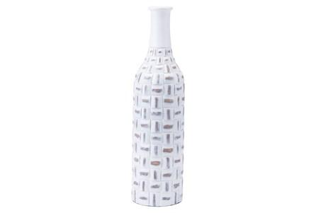 Large Mosaic Bottle Antique White