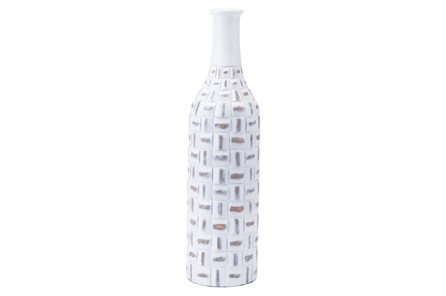 Large Mosaic Bottle Antique White - Main