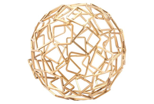 Squares Gold Orb Gold - 360