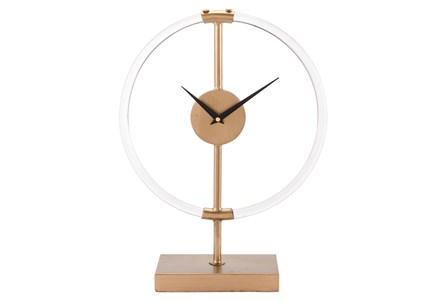 Lucite Gold Clock