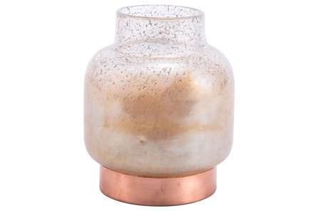 Medium Vase Translucent & Copper - Main