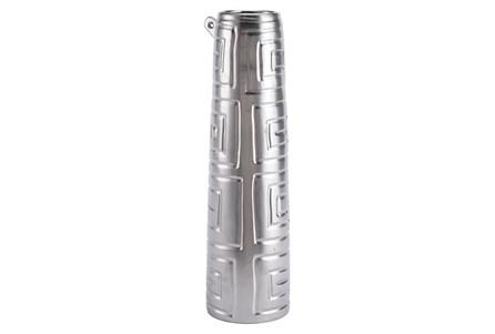 Azteca Large Jar Matte Silver