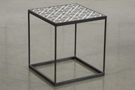 Black And White Metal Side Table