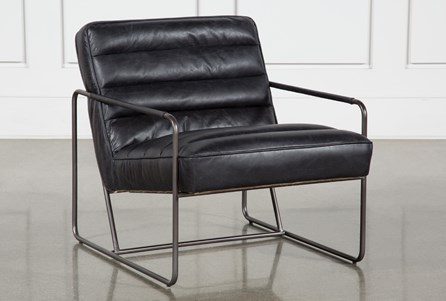 Black Leather Channel Barcelona Chair