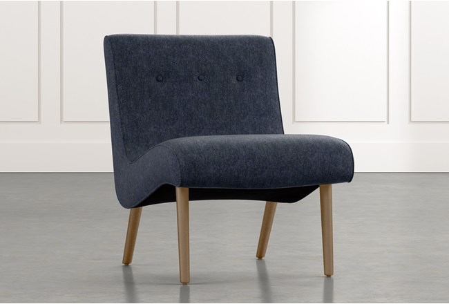 Devon II Navy Blue Accent Chair - 360