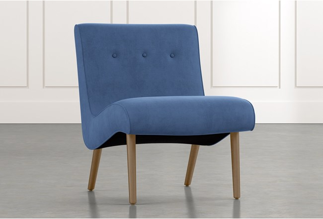 Devon II Light Blue Accent Chair - 360