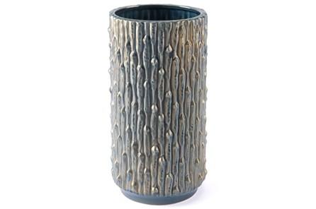 Knot Md Vase Blue & Gold - Main