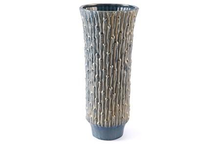 Knot Lg Vase Blue & Gold - Main