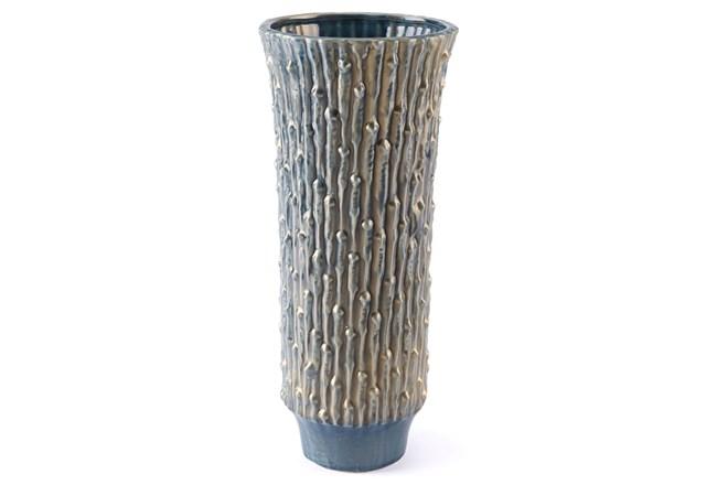 Knot Lg Vase Blue & Gold - 360